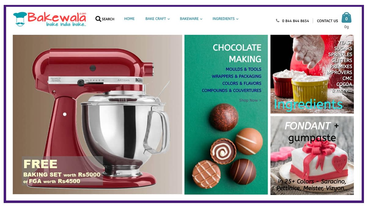 ecommerce business example - baking