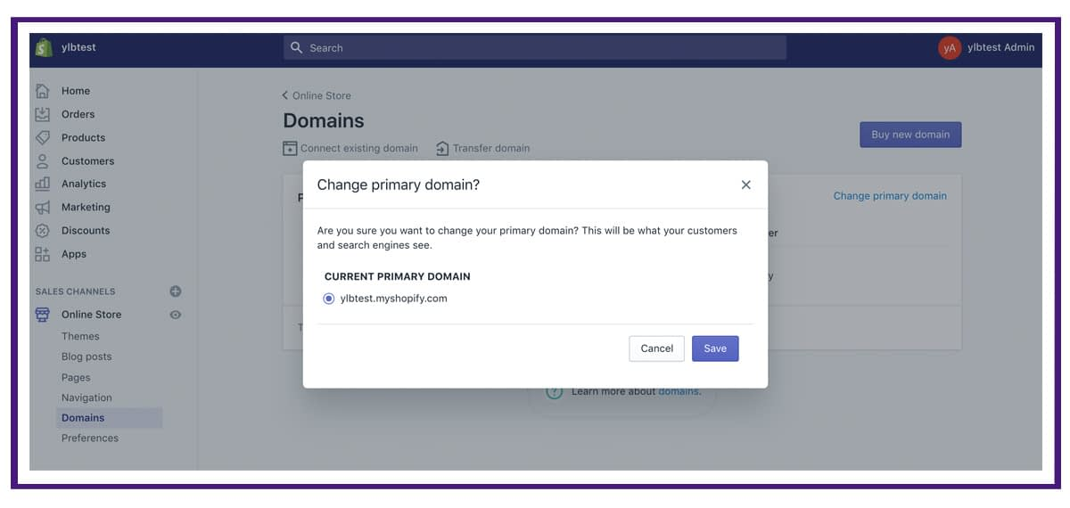 shopify settings - domains6