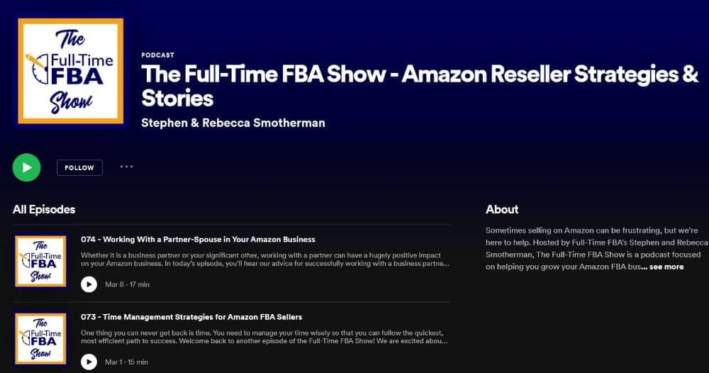The Full-Time FBA Show - Amazon Podcast on Spotify