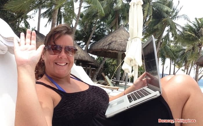 running my lifestyle business on the beach