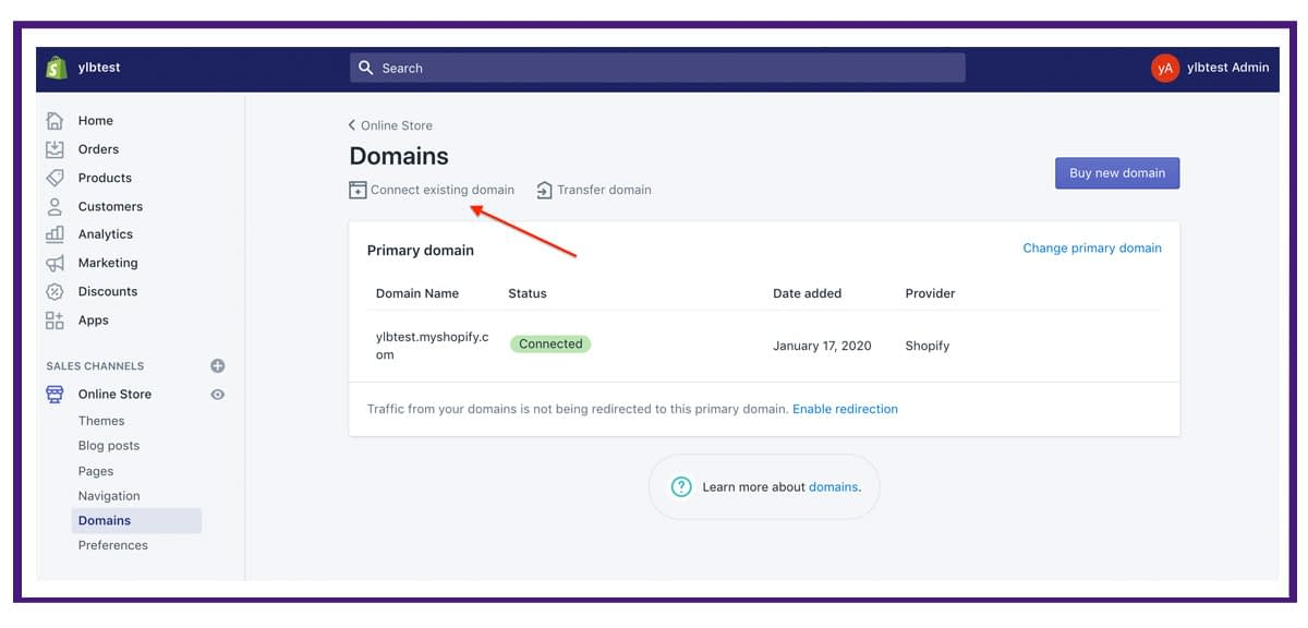 shopify settings - domains2