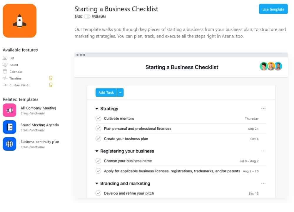 Asana - project management tool for digital nomad