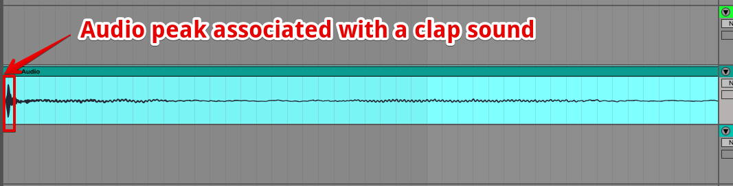 Clap sound in audio recording software