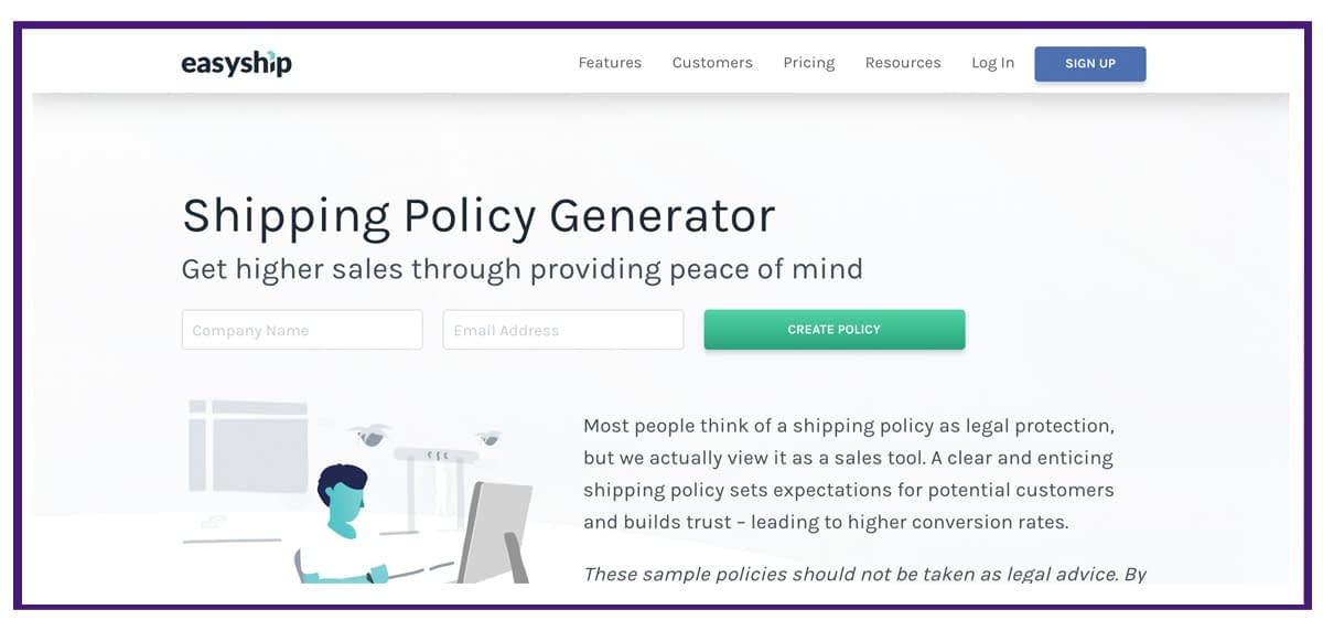shipping policy example