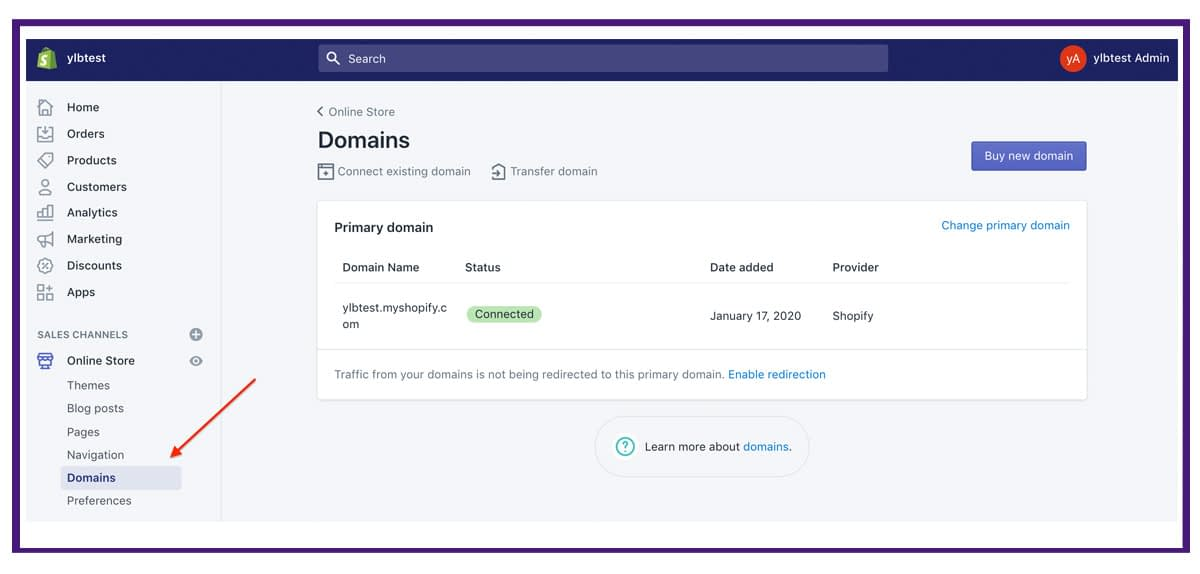 shopify settings - domains1