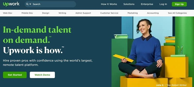 Hire a freelancer on Upwork