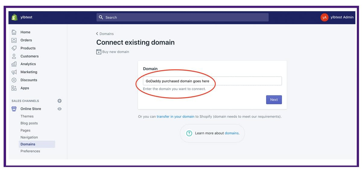 shopify settings - domains3