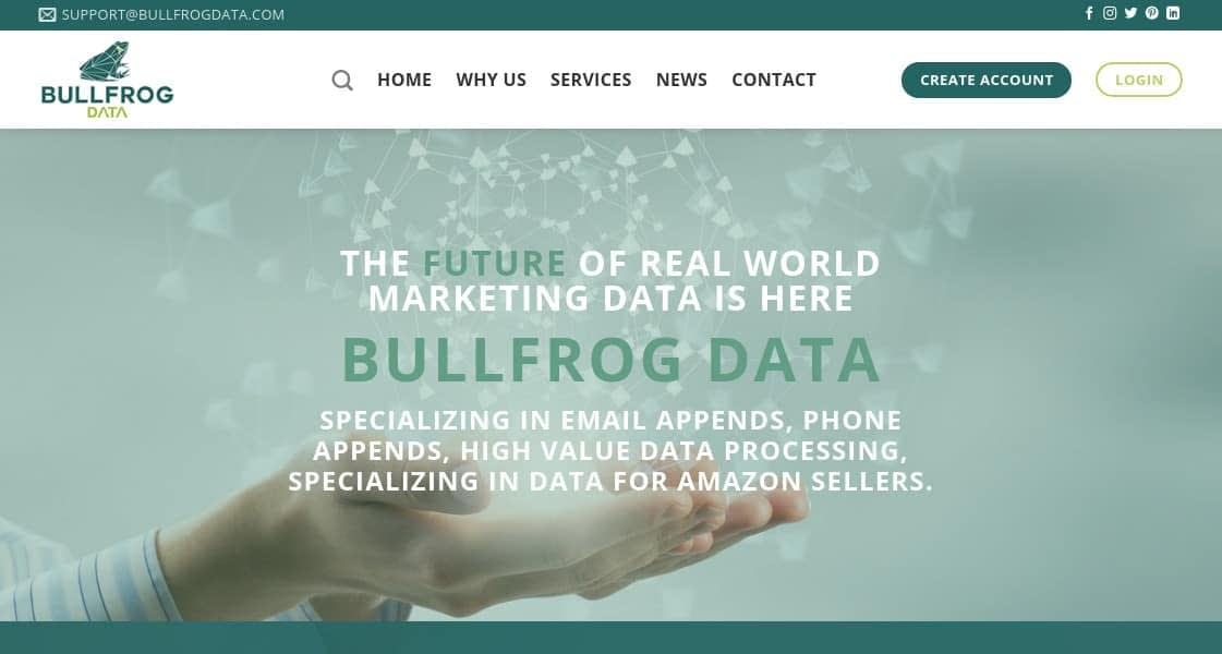 Bullfrog Data - emails appends and data processing for Amazon automation