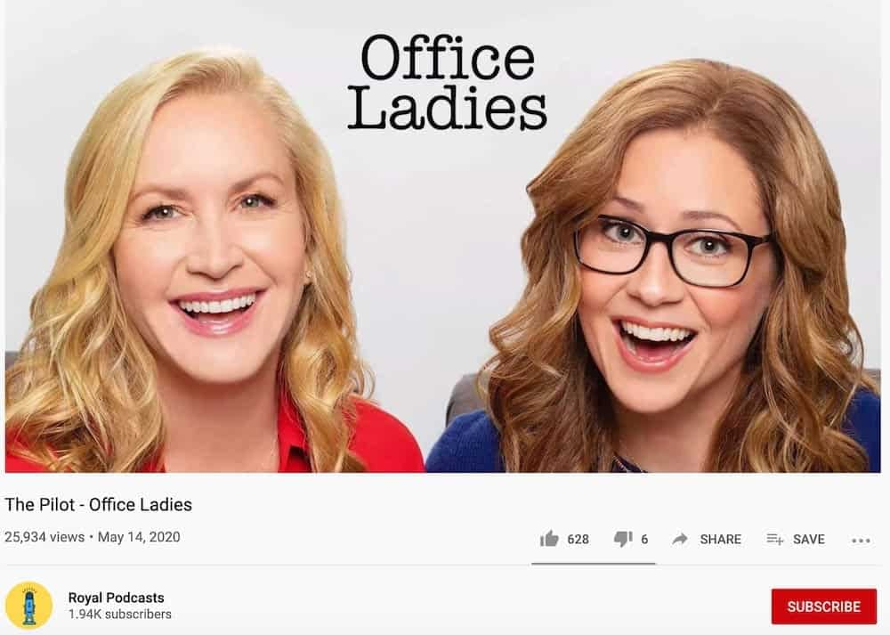 podcast youtube example - office ladies