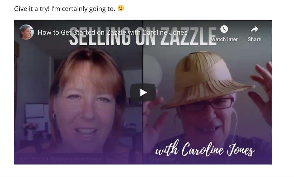 fb live video example from my blog