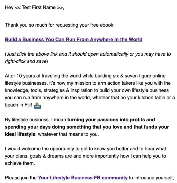 email list first email