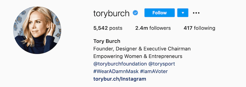 tory burch instagram influencer