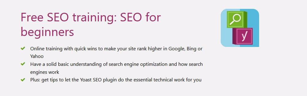 Yoast free SEO training for beginners